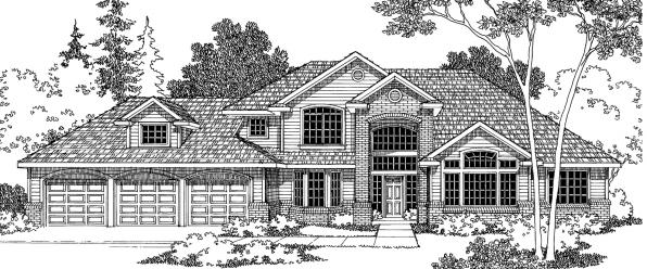 Colfax - 30-224 - Traditional Home Plan - Front Elevation