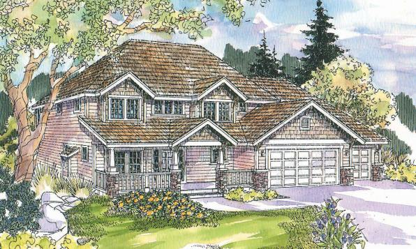 Cavanaugh - 30-490 - Bungalow Home Plan - Front Elevation