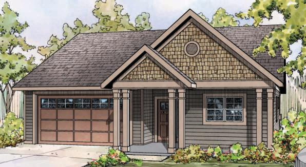 Caspian - 30-868 - Cottage Home Plan - Front Elevation