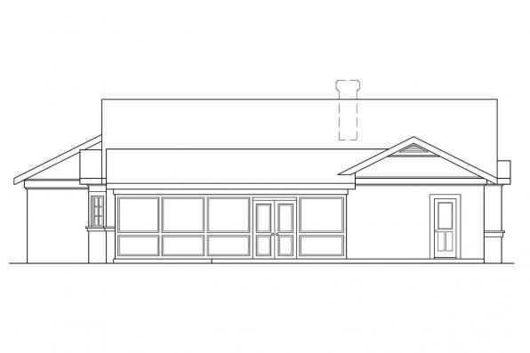 3 Bedroom House Plan - Catalina 11-002 - Rear Elevation