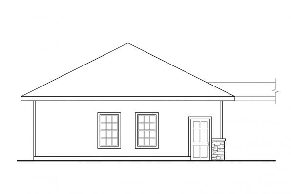 3 Car Garage Plan 20-009 - Left Elevation
