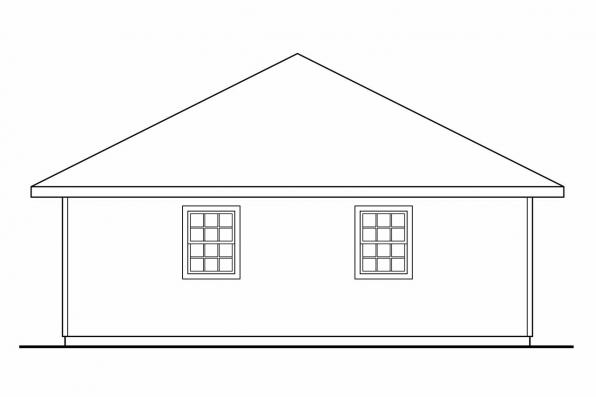 3 Car Garage Plan 20-029 - Left Elevation
