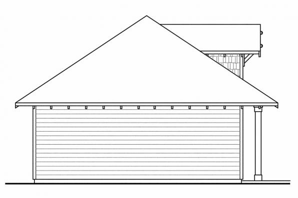 3 Car Garage Plan 20-033 - Left Elevation