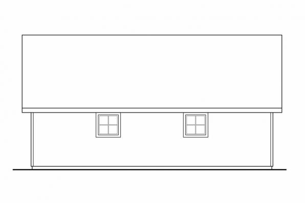 3 Car Garage Plan 20-046 - Left Elevation