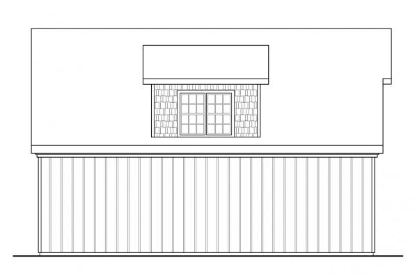 3 Car Garage Plan 20-099 - Left Elevation