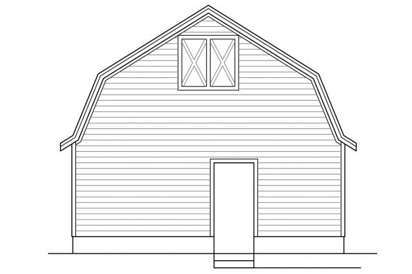 3 Car Garage Plan 20-142 - Left Elevation