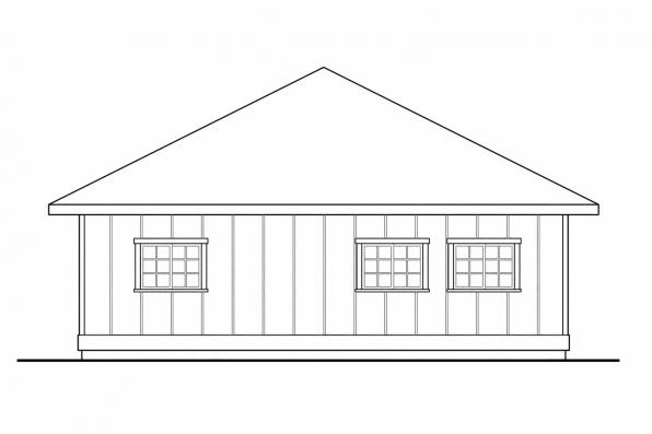 4 Car Garage Plan 20-066 - Left Elevation