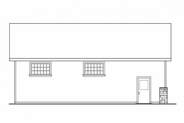 4 Car Garage Plan 20-030 - Left Elevation