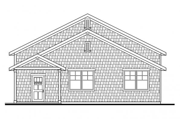 6 Car Garage Plan 20-042 - Right Elevation