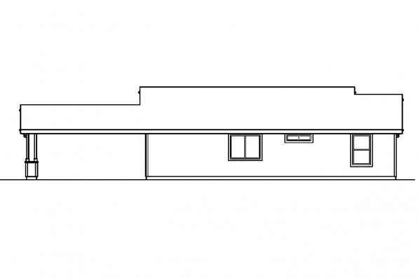 Beach House Plan - Mattson 30-195 - Rear Elevation