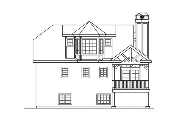 Beach House Plan - Sherbrooke 30-371 - Rear Elevation