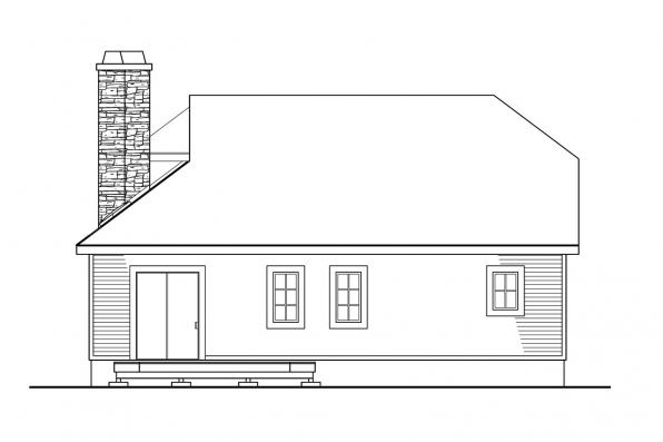 Beach House Plan - Winchester 30-003 - Rear Elevation