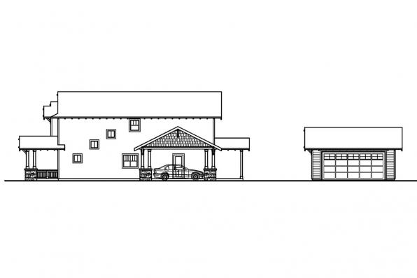 Bungalow House Plan - Alderdale 30-573 - Right Elevation