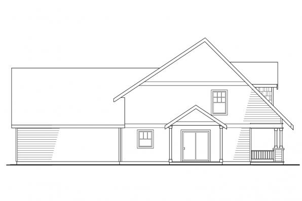 Bungalow House Plan - Ambridge 10-323 - Left Elevation