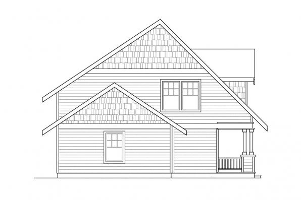 Bungalow House Plan - Bailey 30-262 - Left Elevation