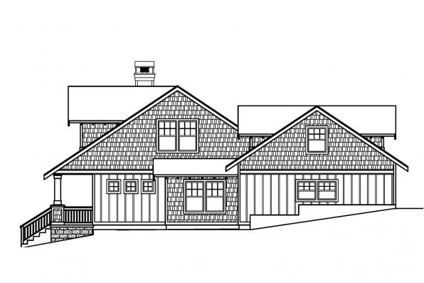 Bungalow House Plan - Carrington 30-360 - Right Elevation