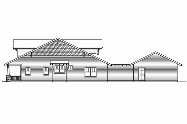 Bungalow House Plan - Fairfield 30-583 - Right Elevation