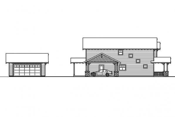 Bungalow House Plan - Grovedale 30-574 - Left Elevation