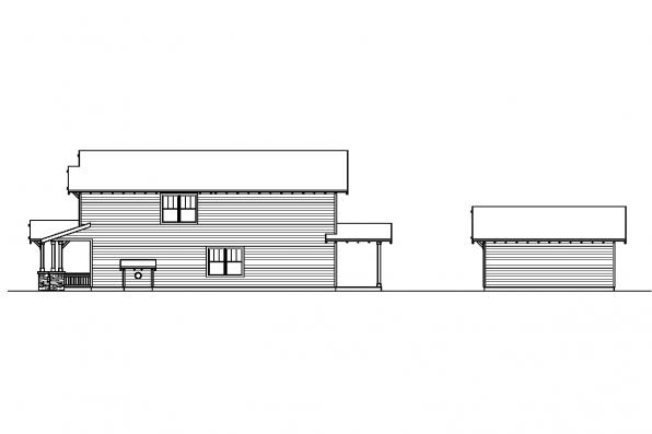 Bungalow House Plan - Grovedale 30-574 - Right Elevation