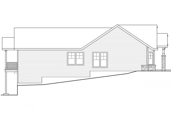 Bungalow House Plan - Keystone 30-597 - Left Elevation