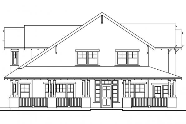 Bungalow House Plan - Mapleton 30-506 - Left Elevation