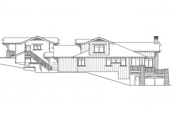 Bungalow House Plan - Meriweather 30-502 - Rear Elevation