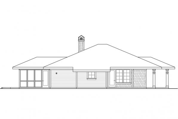 Bungalow House Plan - Tidewater 30-997 - Left Elevation