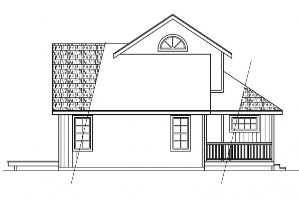 Cabin Plan - Elsberry 30-265 - Left Elevation