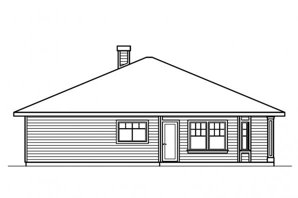 Cabin House Plan - Lincoln 30-203 - Left Elevation