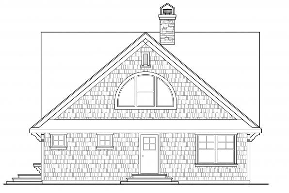 Cabin Plan - Cedar View 50-012 - Right Elevation