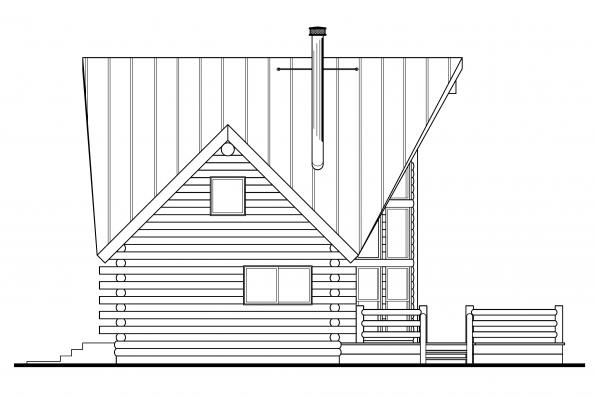 Cabin Plan - Chinook 30-011 - Left Elevation