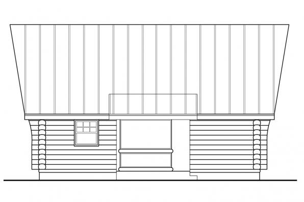 Cabin Plan - Clarkridge 30-267 - Rear Elevation
