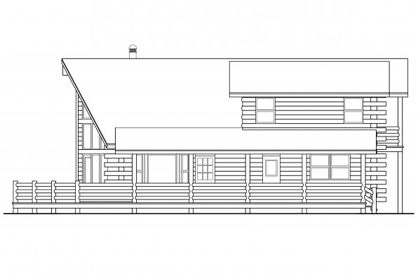 Cabin Plan - Eagleton 30-020 - Right Elevation