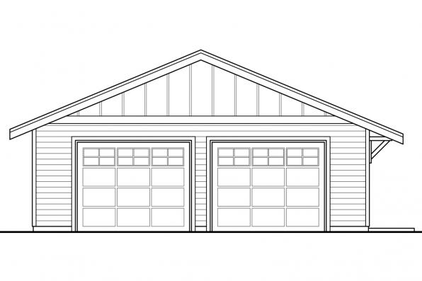 Cabin Plan - Lakeville 30-998 - Garage Front Elevation