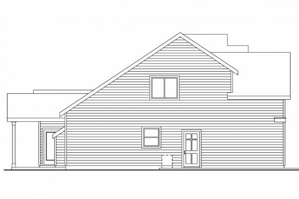 Cape Cod House Plan - Brightwood 30-527 - Left Elevation