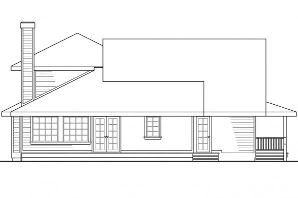 Cape Cod House Plan - Jasmine 10-001 - Rear Elevation