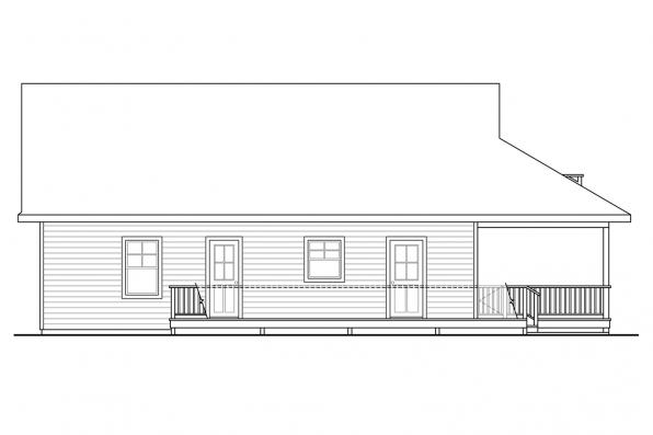 Cape Cod House Plan - Lyndon 30-769 - Left Elevation