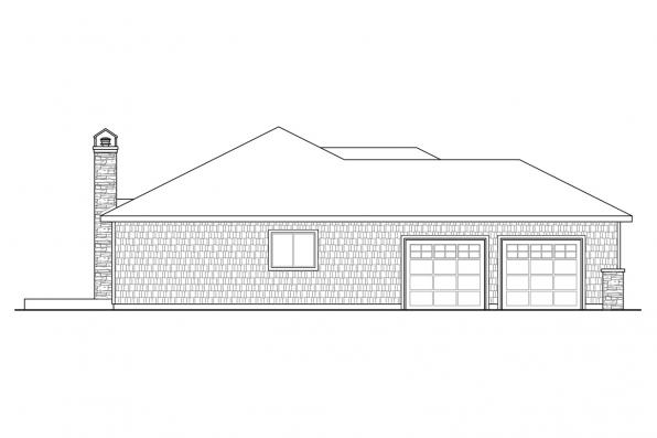 Cape Cod House Plan - Red Oak 30-922 - Left Elevation