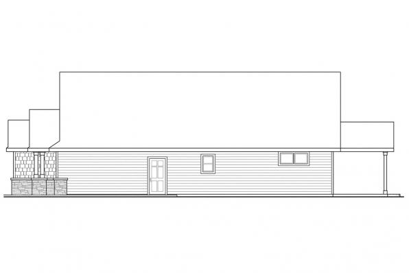Cape Cod House Plan - Umpqua 30-825 - Right Elevation