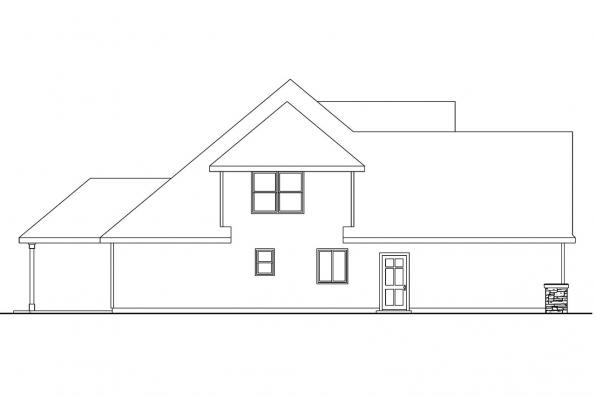 Cape Cod House Plan - Wilsonville 30-517 - Left Elevation