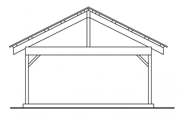 Carport Design 20-044 - Rear Elevation