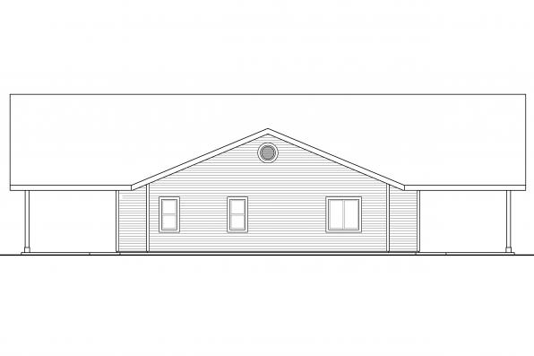 Chalet House Plan - Anacortes 30-936 - Right Elevation