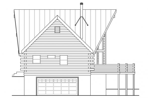 Chalet House Plan - Eagle Rock 30-919 - Left Elevation