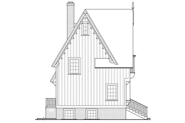 Chalet House Plan - Langston 42-027 - Right Elevation