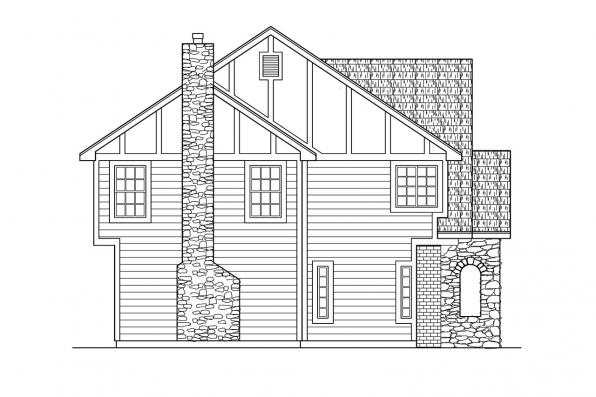 Chalet House Plan - Livingston 30-046 - Left Elevation