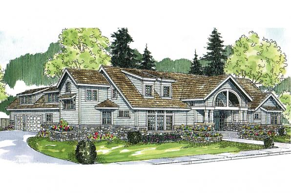 Chalet House Plan - Oxford 30-451 - Front Elevation
