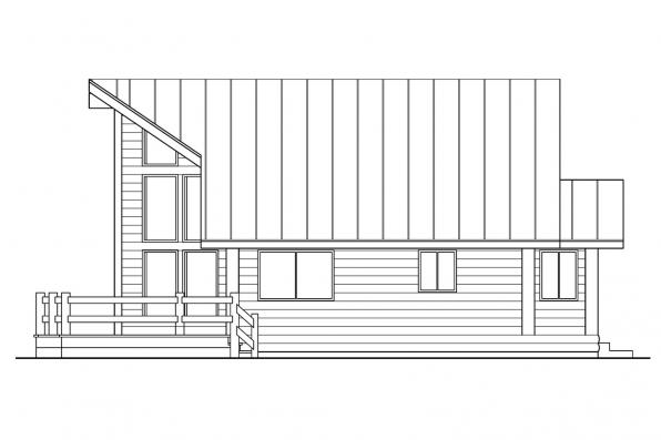 Chalet House Plan - Sylvan 30-023 - Right Elevation