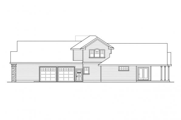 Chateau House Plan - Canyonville 30-775 - Right Elevation