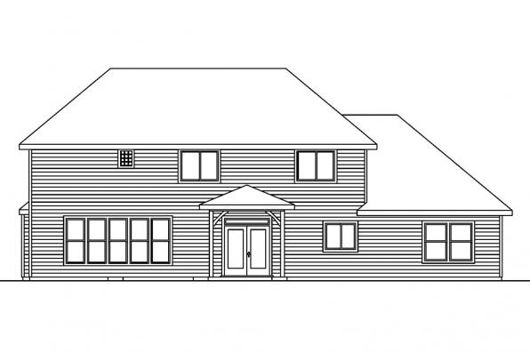 Chateau House Plan - Sausalito 30-520 - Rear Elevation