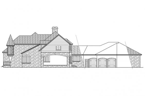 Chateau House Plan - Wilshire 10-031 - Right Elevation